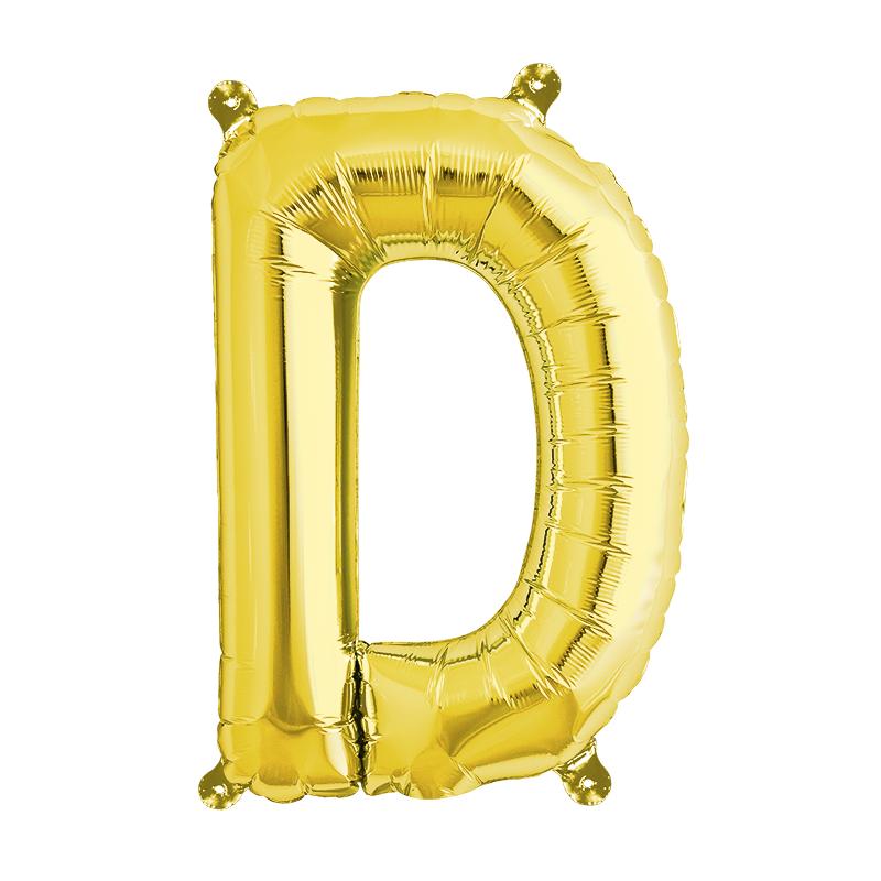 Northstar Bokstavsballong D, guld