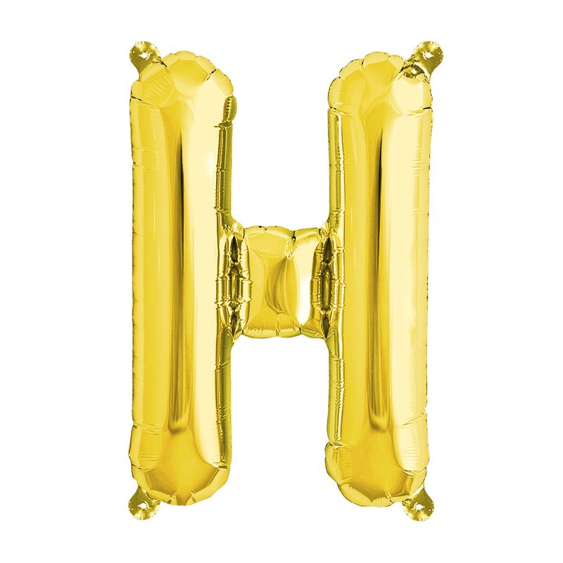 Northstar Bokstavsballong H, guld