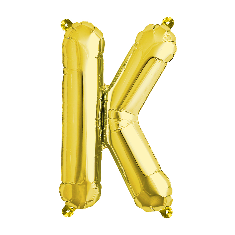 Northstar Bokstavsballong K, guld