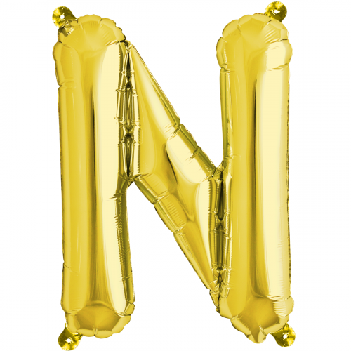 Northstar Bokstavsballong N, guld
