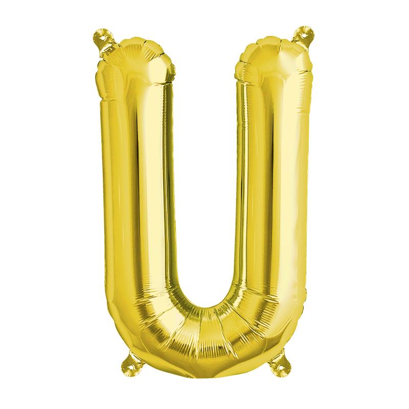 Northstar Bokstavsballong U, guld