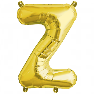 Northstar Bokstavsballong Z, guld