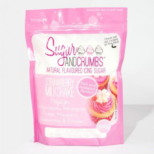 Sugar and Crumbs Smaksatt Florsocker, jordgubbsmilkshake