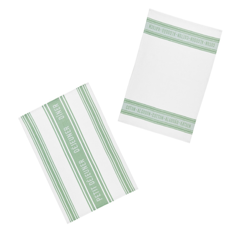 Kitchen Craft Kökshandduk Jacquard Green, 2-pack