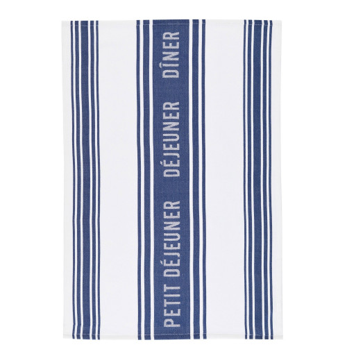 Kitchen Craft Kökshandduk Jacquard Dark Blue, 2-pack