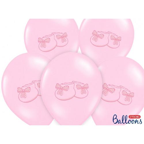 PartyDeco Ballonger Rosa, babyskor