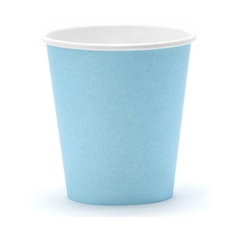 PartyDeco Pappersmuggar, ljusblå