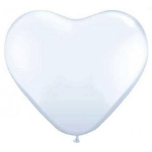 PartyDeco Ballonger Hjärtformade, vita