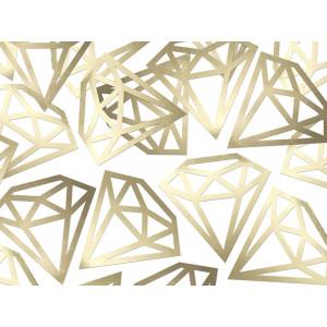 PartyDeco Konfetti Diamanter, guld