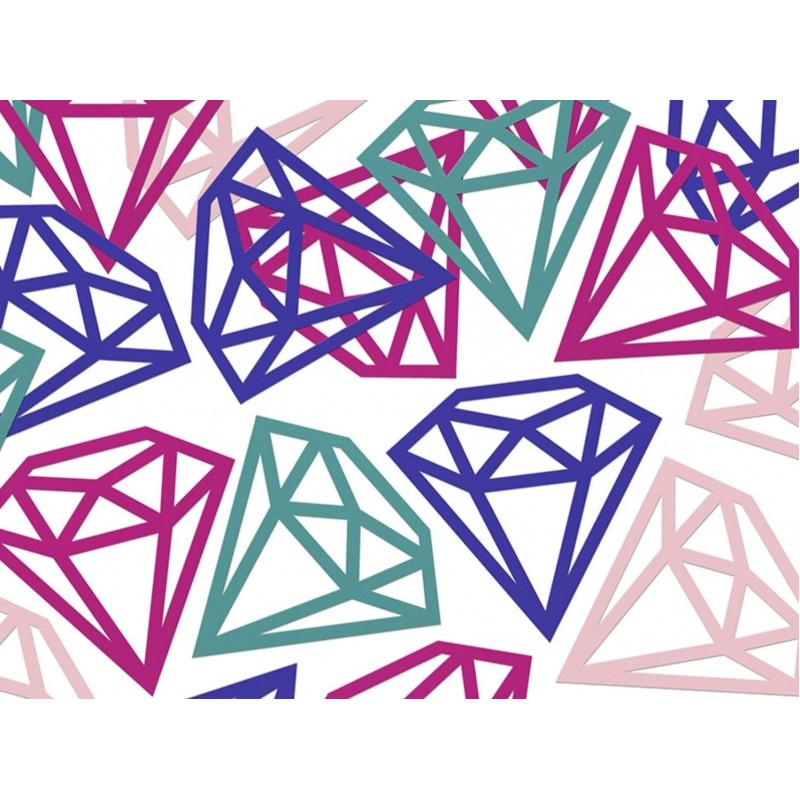 PartyDeco Konfetti Diamanter, blandade färger