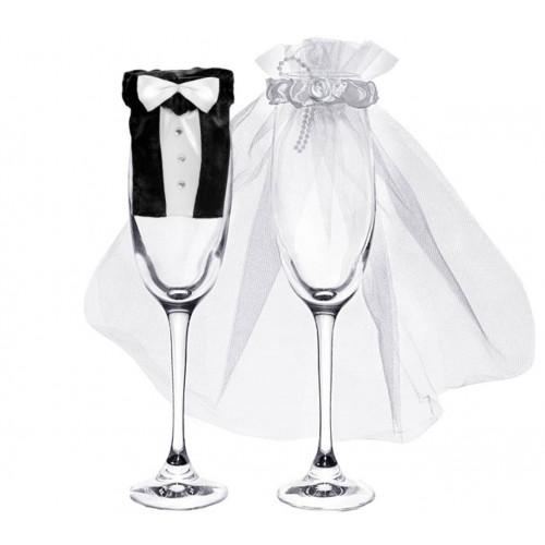 PartyDeco Kläder till vin- och champagneglas