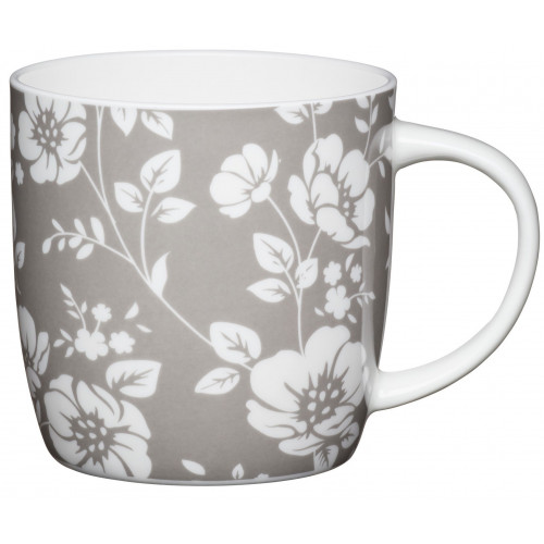 Kitchen Craft Mugg, blommor grå