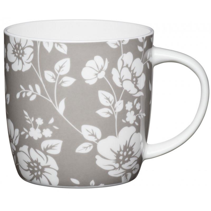 Kitchen Craft Mugg, blommor grå