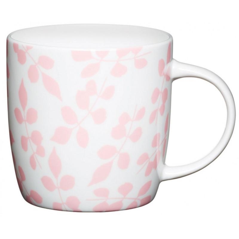 Kitchen Craft Mugg, rosa blad