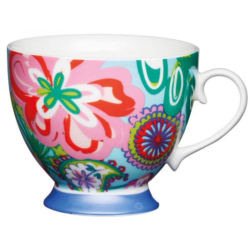 Kitchen Craft Temugg, färgglad blomma