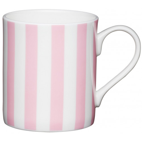 Kitchen Craft Mugg, randig rosa
