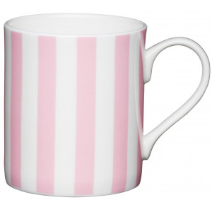 Kitchen Craft Mugg, randig rosa
