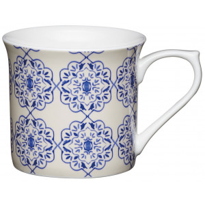 Kitchen Craft Mugg, Filigran blå