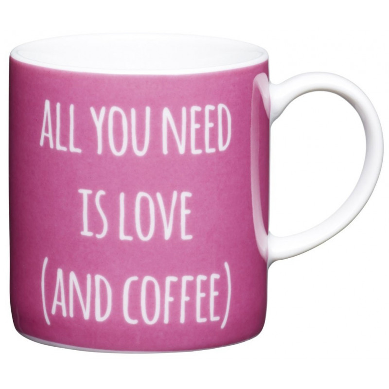 Kitchen Craft Espressokopp, All you need is love