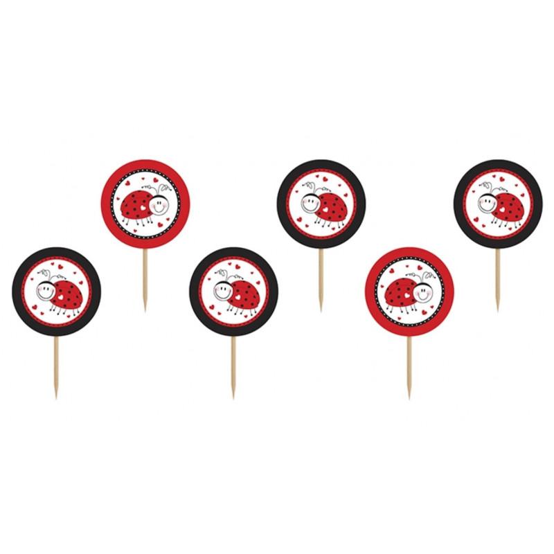 PartyDeco Cupcake Toppers Nyckelpiga