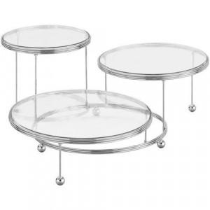 Tårtställning i 3 delar, metall - Wilton