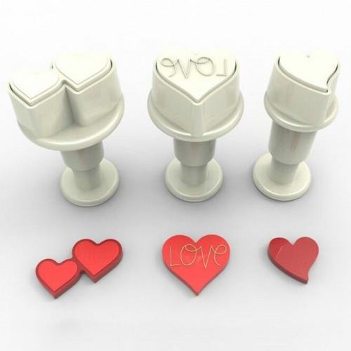 Dekofee Utstickare Mini Set, hjärtan 2