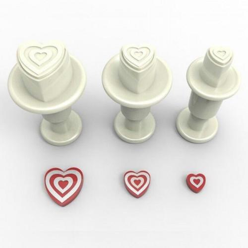 Dekofee Utstickare Mini Set, randiga hjärtan