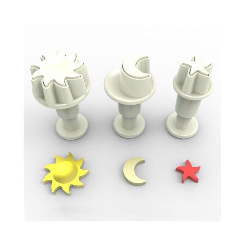 Dekofee Utstickare Mini Set, sol och måne