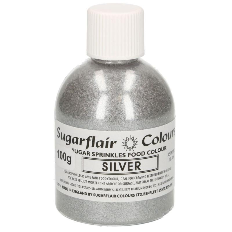 Sugarflair Färgat socker, silver