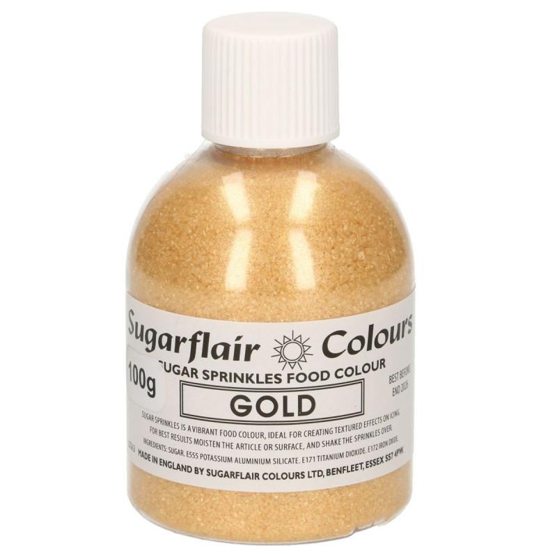 Sugarflair Färgat socker, guld