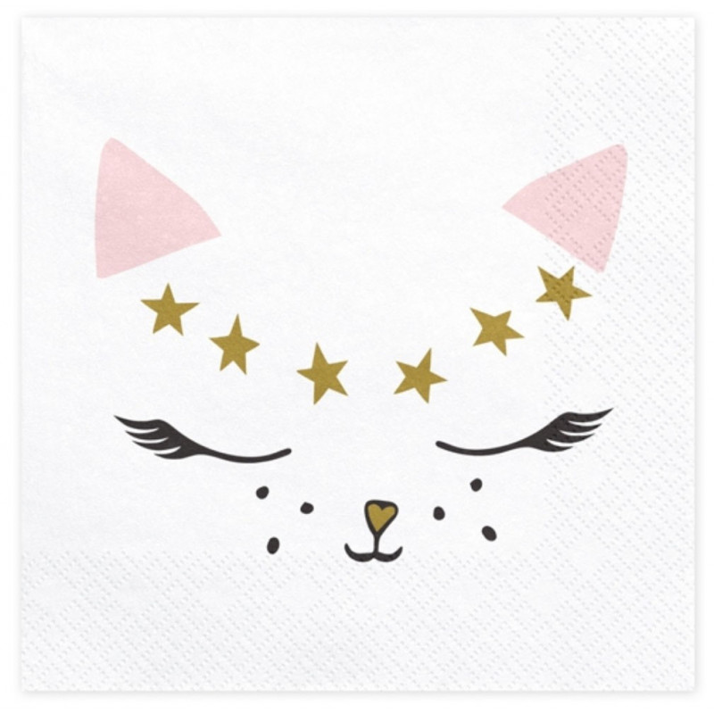 PartyDeco Servetter Meow