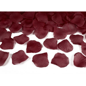 PartyDeco Rosblad, vinröda, 100 st