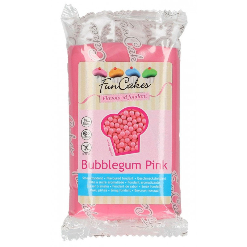 FunCakes Sockerpasta Smaksatt Bubbelgum, rosa