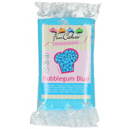 FunCakes Sockerpasta Smaksatt Bubbelgum, blå