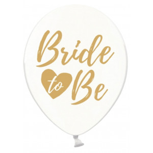 PartyDeco Ballonger Transparenta, Bride to be