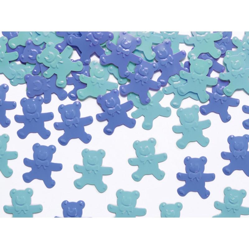 PartyDeco Konfetti Nallar, blå
