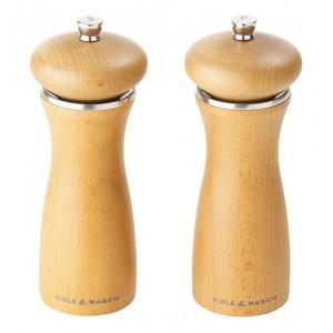 Cole & Mason, salt & peppar set, 16,5 cm, sandfärgat