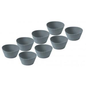Funktion Muffinsformar, 8 st, silikon, grå