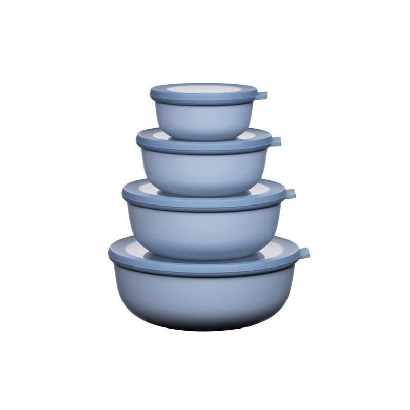 Rosti Mepal Cirqula Lågt skålset, 4 st, nordic blue