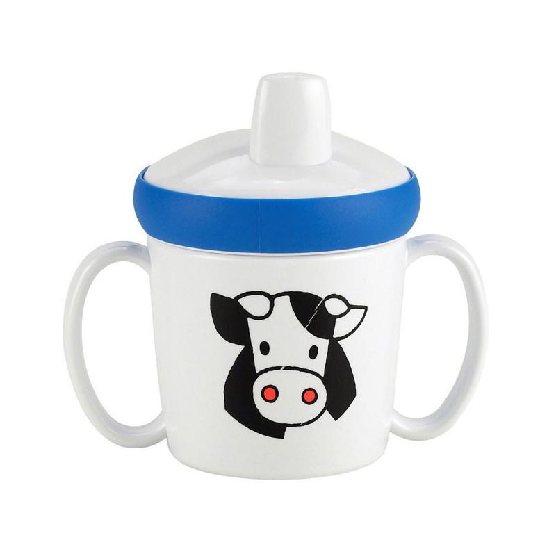 Rosti Mepal Babymugg utan pip, Farm, vit/blå