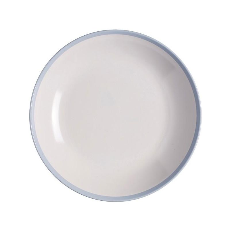 Rosti Mepal Djup tallrik, Flow, retroblå 22 cm,