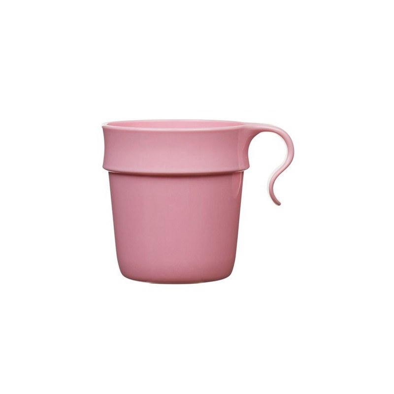 Nordiska plast Mugg med öra, 8 x 8,5 cm, rosa