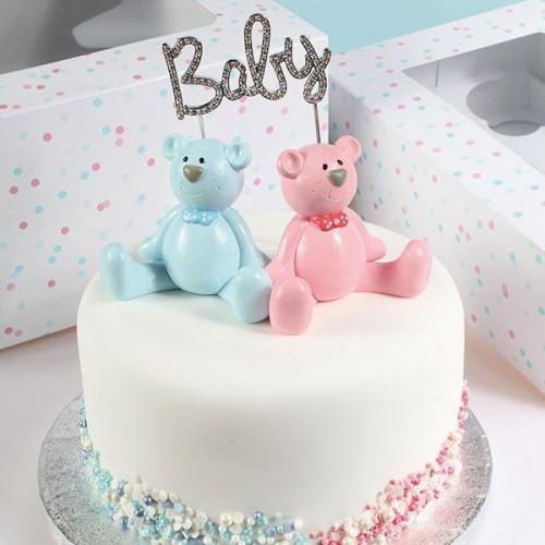 Cake Star Cake Topper med strass, Baby