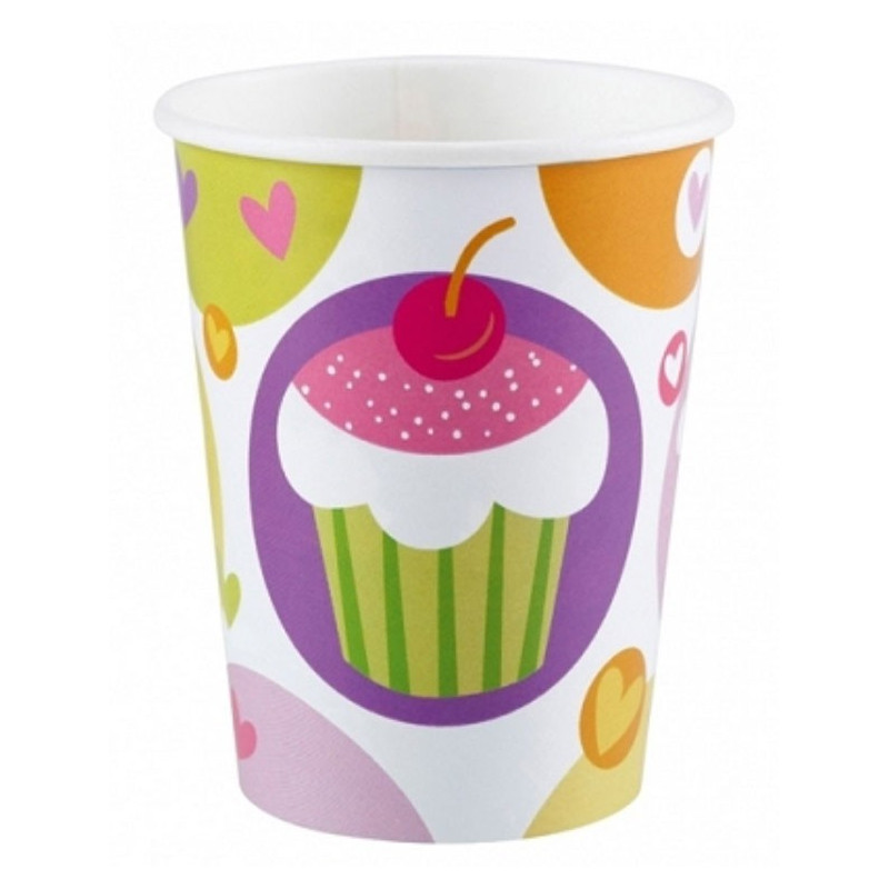 PartyDeco Pappersmuggar Cupcake