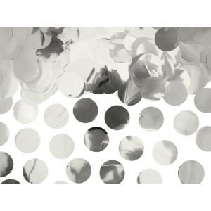 PartyDeco Konfetti cirklar, silver