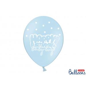 PartyDeco Ballonger Happy Birthday, blå