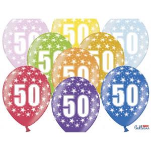 PartyDeco Ballonger 50 år, blandade färger