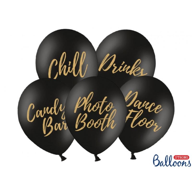 PartyDeco Ballonger till fest, svarta