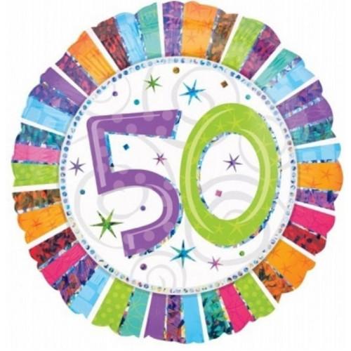 Anagram Ballong i microfolie, 50 år