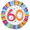 Anagram Ballong i microfolie, 60 år